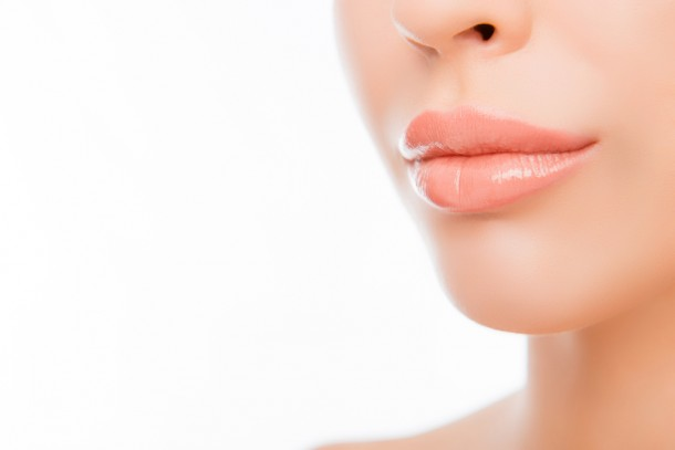 Woman with beautiful, healthy lips